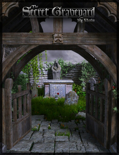 The Secret Graveyard by Merlin by: Merlin Studios, 3D Models by Daz 3D