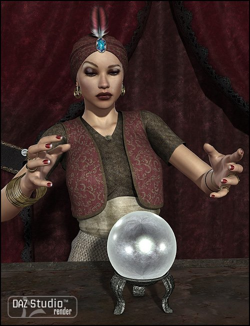 Soothsayer for Fortune Teller 1930 by: Sarsa, 3D Models by Daz 3D