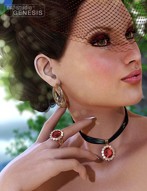 Jeweled Finery by: Fisty & Darc, 3D Models by Daz 3D