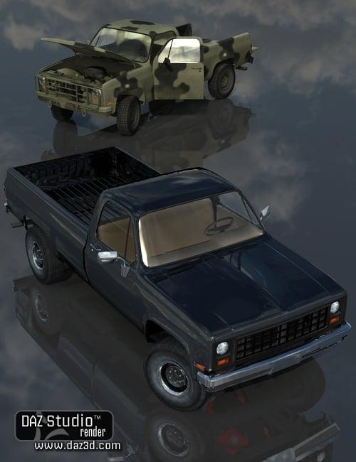 Pick 'em Up Truck by: DzFire, 3D Models by Daz 3D