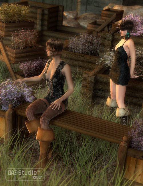 Garden Escape Planters by: ARTCollab, 3D Models by Daz 3D