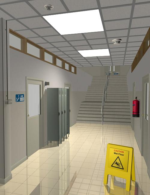 Interiors Corridors by: maclean, 3D Models by Daz 3D