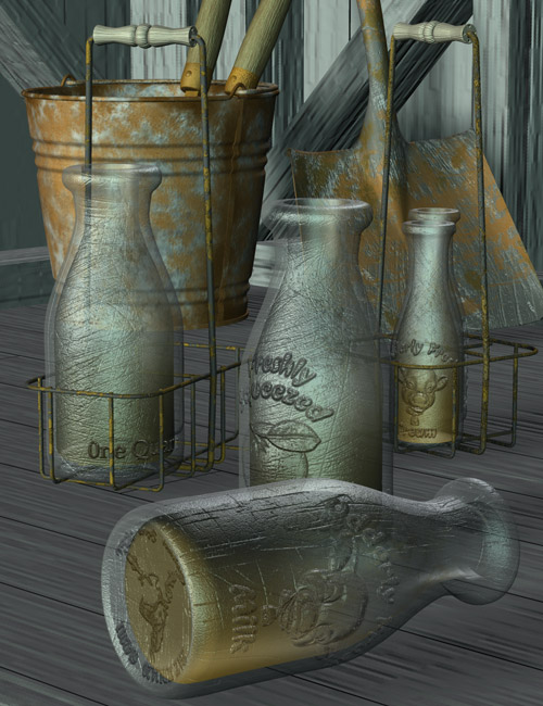 Udderly Fresh Dairy Set by: Capsces Digital Ink, 3D Models by Daz 3D