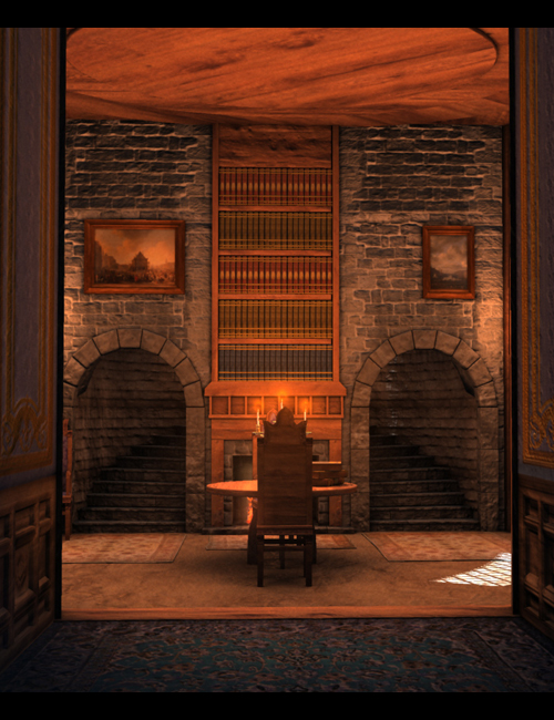 Room of Books by: SoulessEmpathy, 3D Models by Daz 3D