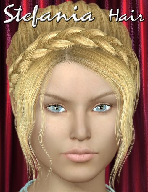 Stefania Hair by: 3DreamMairy, 3D Models by Daz 3D