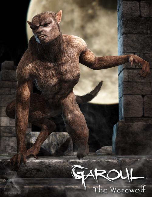 Garoul The Werewolf by: RawArt, 3D Models by Daz 3D