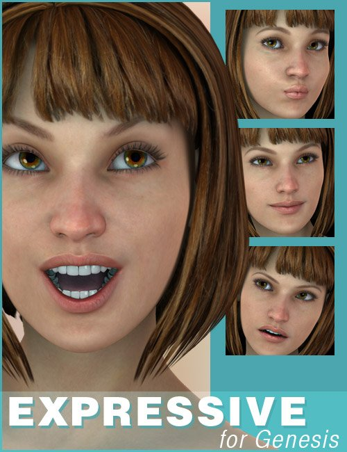 Expressive for Genesis by: 3DCelebrity, 3D Models by Daz 3D