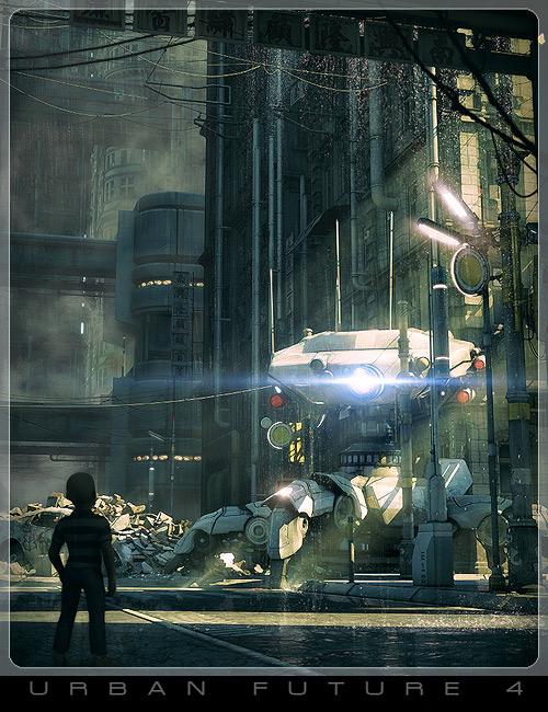 Urban Future 4 :Street Level by: Stonemason, 3D Models by Daz 3D