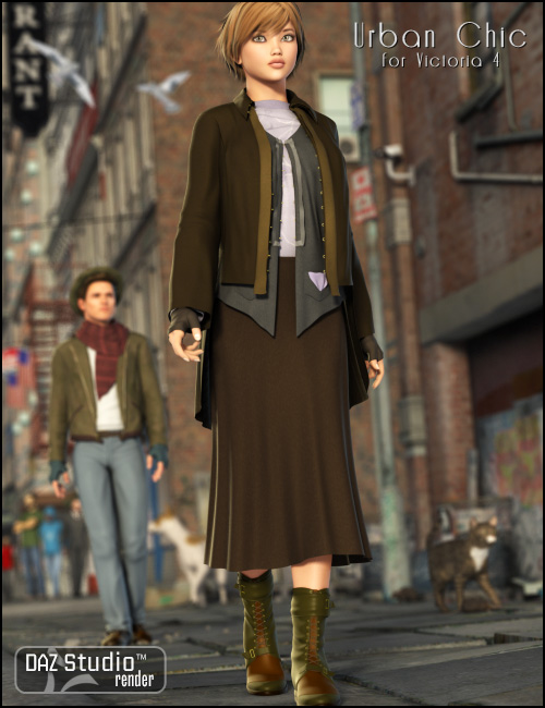 Urban Shabby Chic by: Ravenhair, 3D Models by Daz 3D