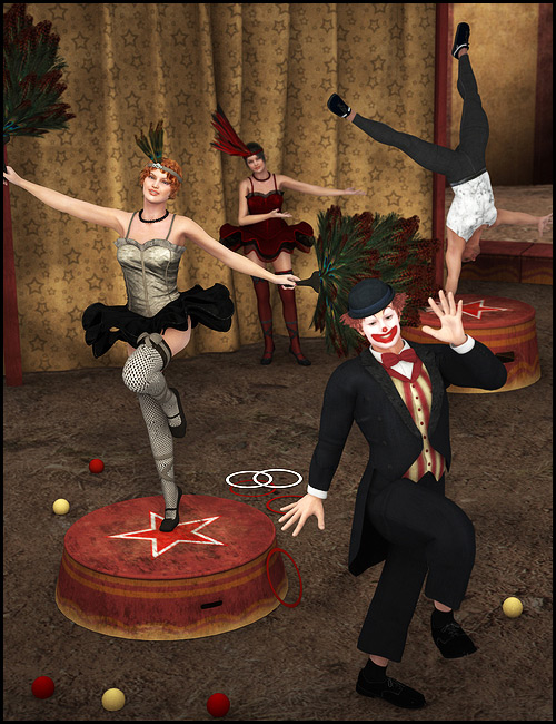 Carnival Performer Poses by: Digiport, 3D Models by Daz 3D