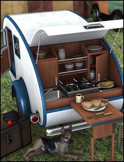 Teardrop Camper by: , 3D Models by Daz 3D