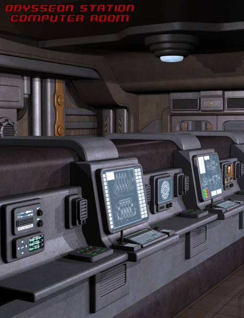 Odysseon Station Computer Room by: Nightshift3D, 3D Models by Daz 3D