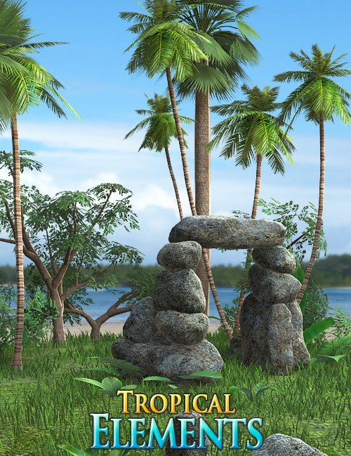 Tropical Elements by: Andrey Pestryakov, 3D Models by Daz 3D