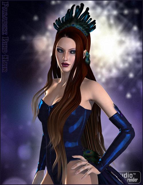 Paradise Bird Hair by: , 3D Models by Daz 3D