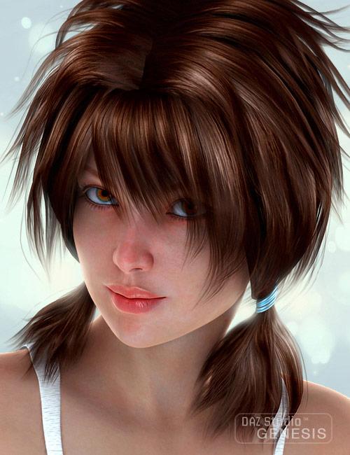 Chelsea Hair by: SWAM, 3D Models by Daz 3D