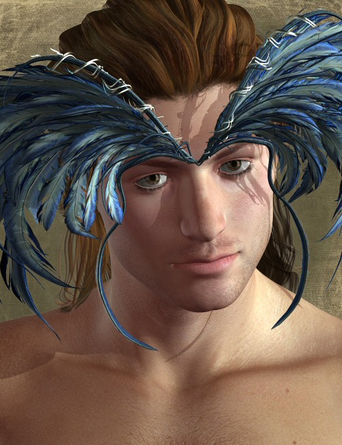 Feather Male Hair by: goldtassel, 3D Models by Daz 3D