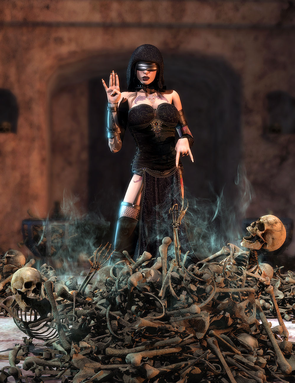 More of Them Bones by: Orestes Graphics, 3D Models by Daz 3D