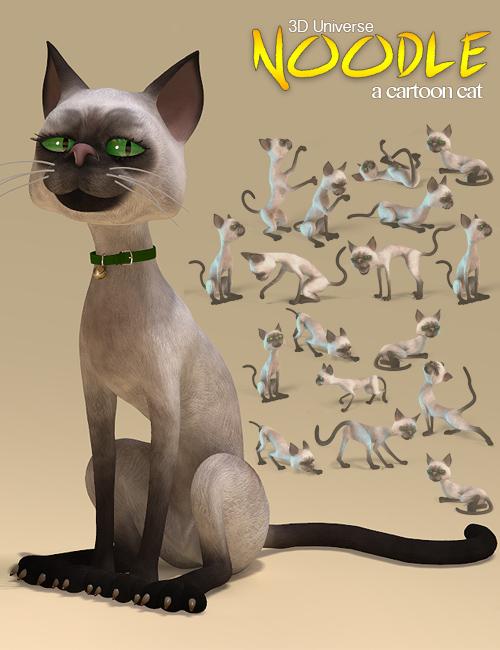 Noodle the Toon Cat by: 3D Universe, 3D Models by Daz 3D