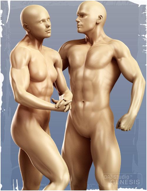 Genesis Evolution: Muscularity by: , 3D Models by Daz 3D