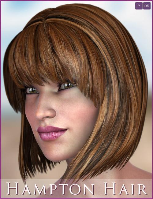 Hampton Hair by: 3DCelebrity, 3D Models by Daz 3D