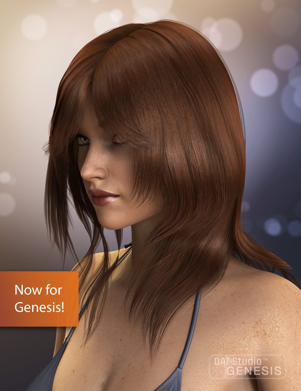 Radiant Jaguar Hair for Genesis by: Quarkerxenic101, 3D Models by Daz 3D