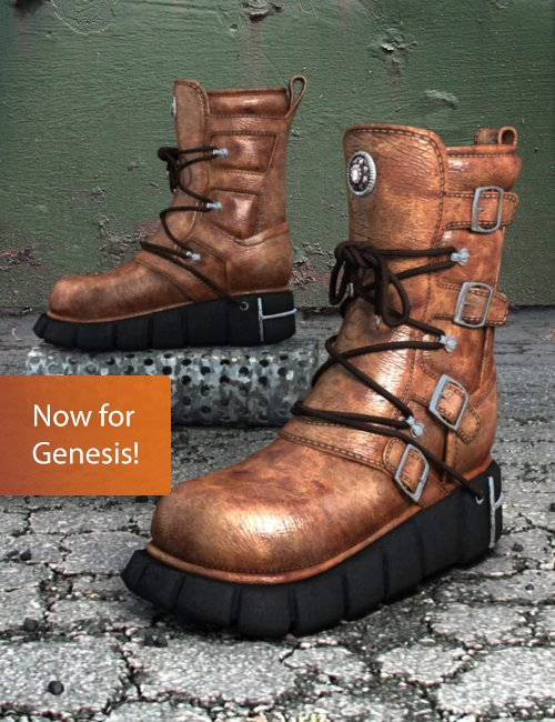 SciFi Boots Female for Genesis by: xenic101, 3D Models by Daz 3D