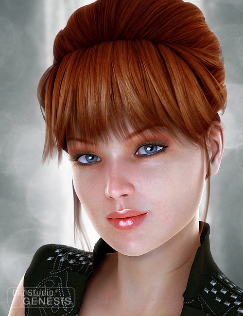 Pure Hair: Retro for Genesis by: , 3D Models by Daz 3D