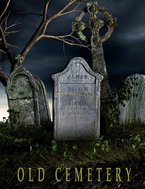 Old Cemetery by: Aako, 3D Models by Daz 3D