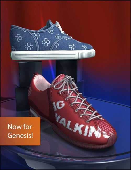 Sport-Trainer Shoe Pack for Genesis by: xenic101, 3D Models by Daz 3D