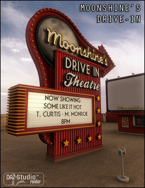 Moonshine's Drive-In Movie Theatre by: Jack Tomalin, 3D Models by Daz 3D