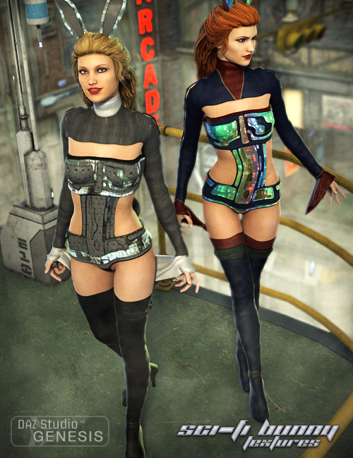 Scifi Bunny For Genesis Textures by: Sarsa, 3D Models by Daz 3D
