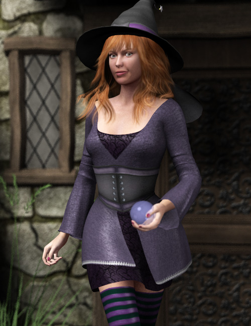 Bewitching for Genesis by: Debra Ross, 3D Models by Daz 3D