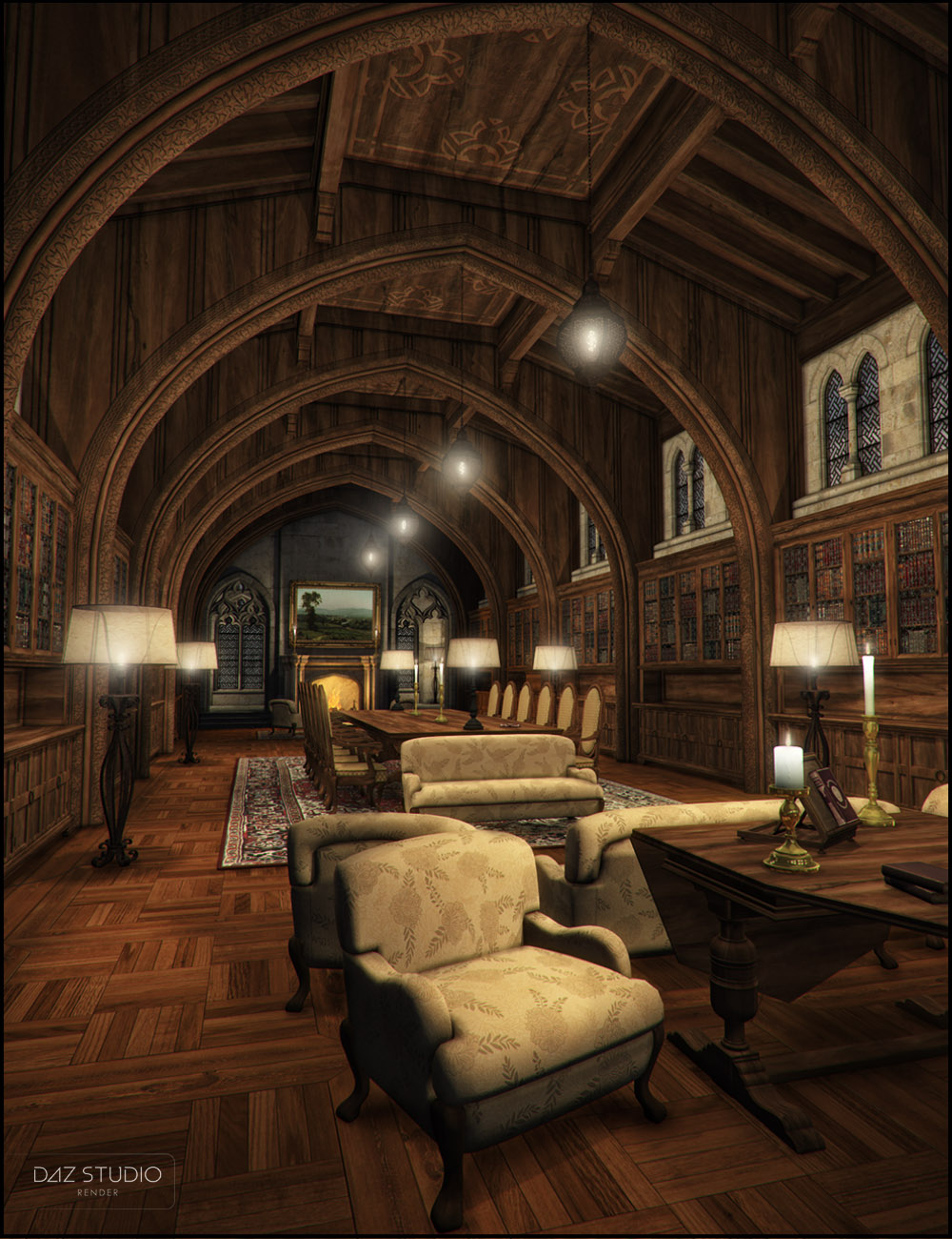 The Library by: Jack Tomalin, 3D Models by Daz 3D