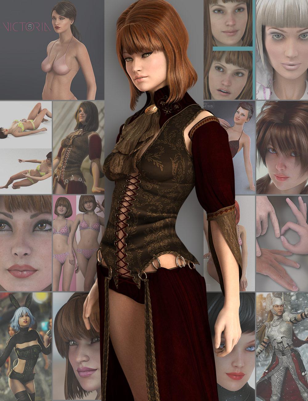 Victoria 5 Pro Bundle by: , 3D Models by Daz 3D