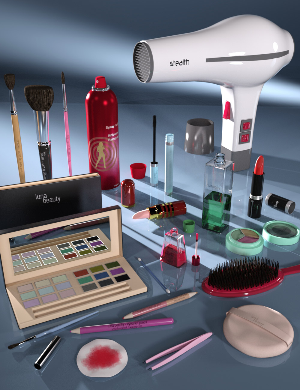 Everyday Cosmetics by: maclean, 3D Models by Daz 3D