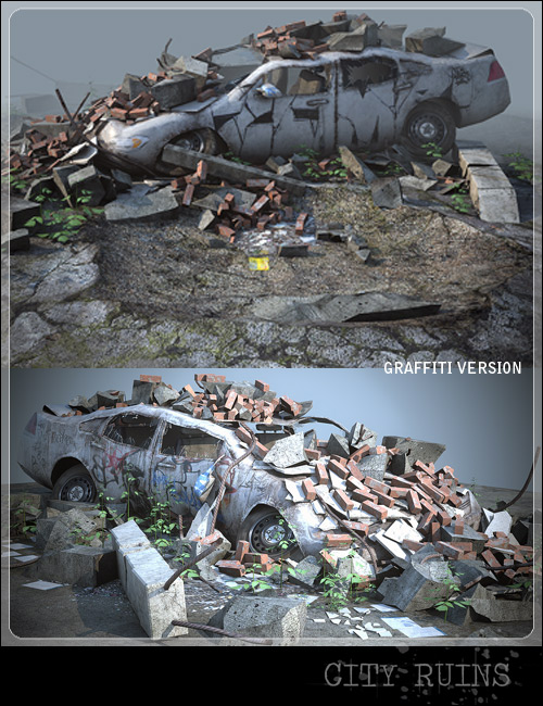 City Ruins : Vehicles by: Stonemason, 3D Models by Daz 3D