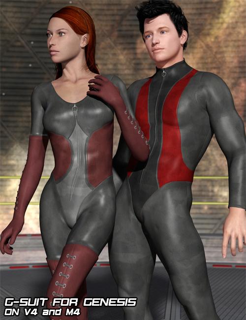 G-Suit, Bodysuit for Genesis by: Flipmode, 3D Models by Daz 3D