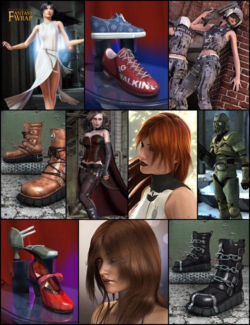 Classics Bundle for Genesis by: 3D UniverseBarbara BrundonLuthbelxenic101, 3D Models by Daz 3D