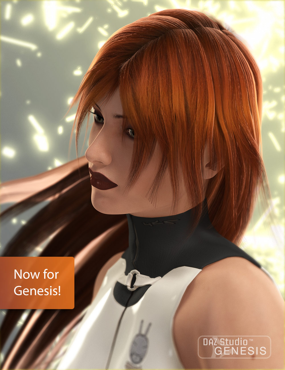 Mitsu Hair for Genesis by: 3D Universexenic101, 3D Models by Daz 3D