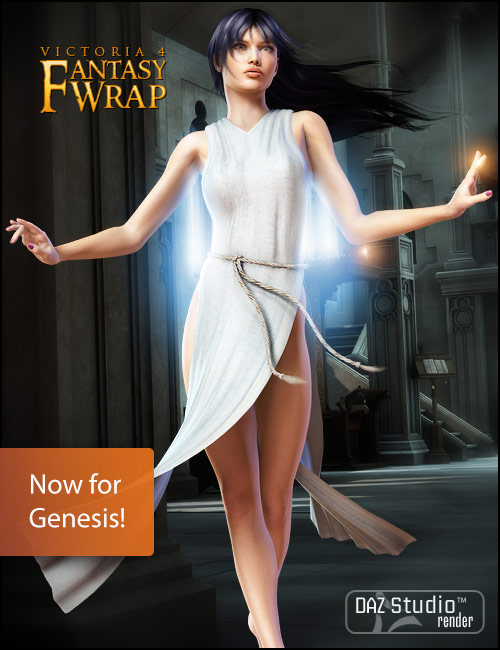 Fantasy Wrap for Genesis by: 3D Universexenic101, 3D Models by Daz 3D