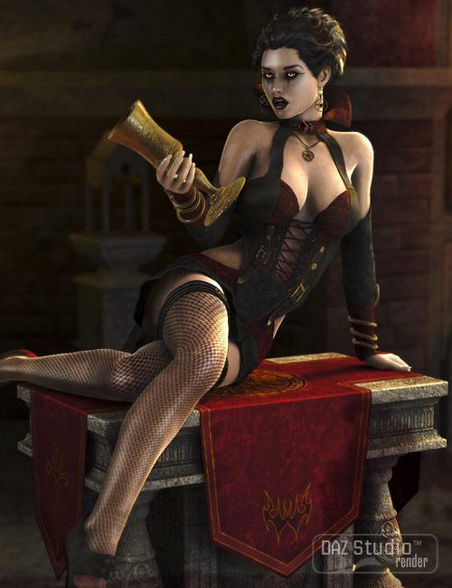 Lynettes Dark Nights for Genesis by: Daniemarfornoxenic101, 3D Models by Daz 3D