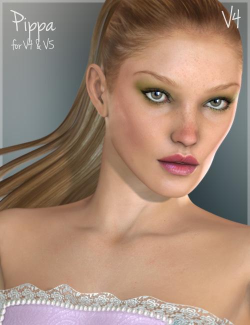 Pippa for V4 and  V5 by: Raiya, 3D Models by Daz 3D