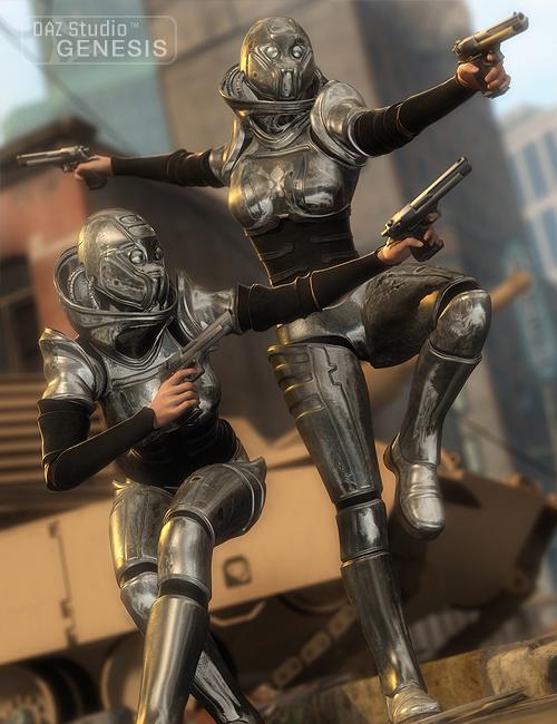 Outland Marauder for Genesis by: Barbara Brundon, 3D Models by Daz 3D