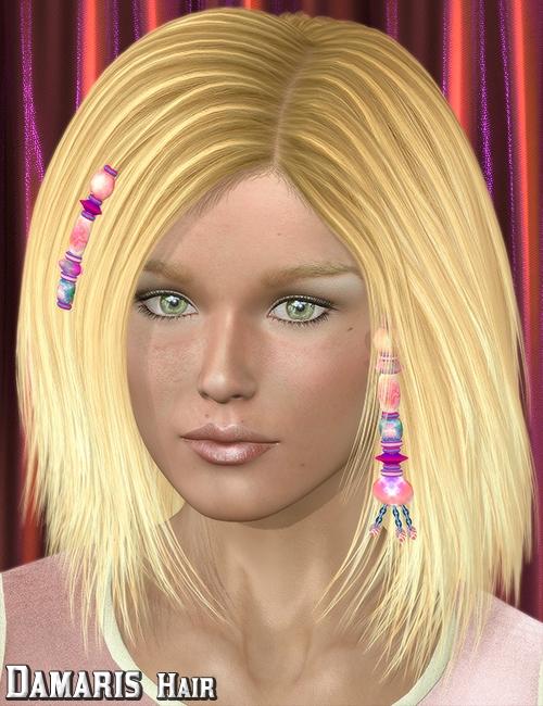 Damaris Hair by: 3DreamMairy, 3D Models by Daz 3D
