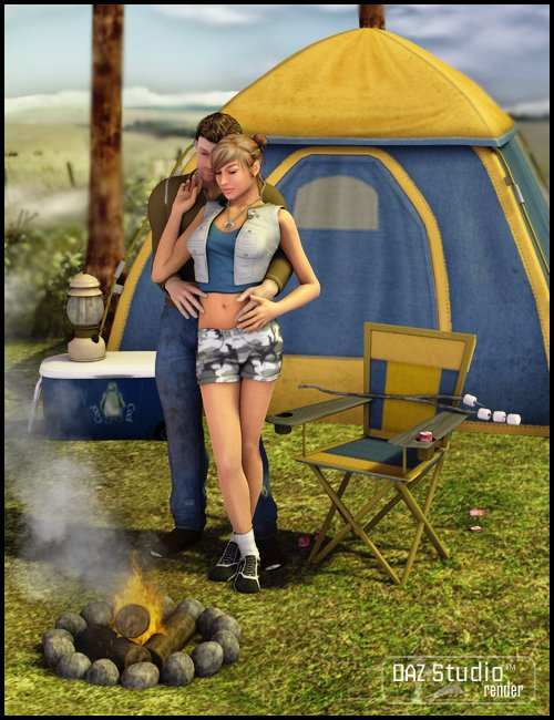 Comfy Camper Essentials by: , 3D Models by Daz 3D