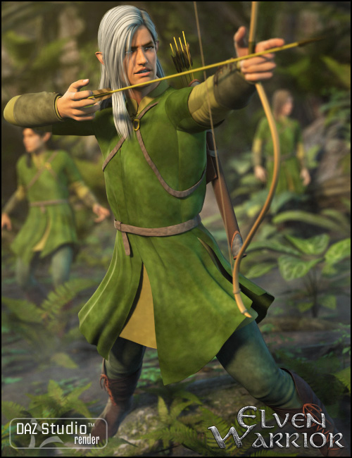 Elven Warrior for Genesis by: Ravenhair, 3D Models by Daz 3D