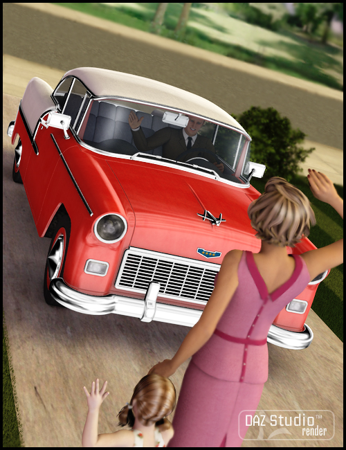 Family Car 1950 by: , 3D Models by Daz 3D