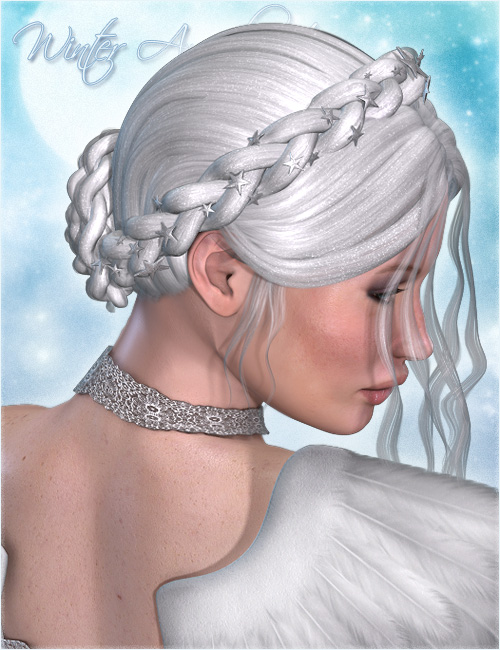 Winter Angel Hair by: Valea, 3D Models by Daz 3D