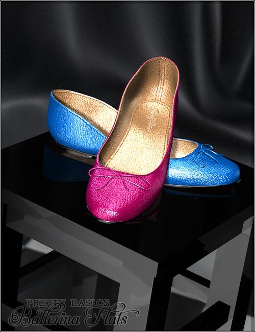 Pretty Basics Ballerina Flats by: Valea, 3D Models by Daz 3D
