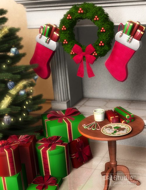 Holiday Accessories by: ARTCollab, 3D Models by Daz 3D